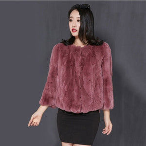 Plus size fur coat rabbit real fur women ladies warm winter fur jackets fashion autumn soft natural skin rex rabbit fur outwears