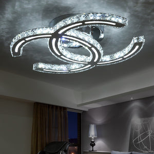Modern LED Crystal Ceiling Lights For Living Room luminarias para sala plafon Ceiling Lamp Fixture Bedroom iluminacion led teto