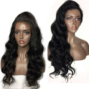 T-BOO Body Wave Full Lace Human Hair Wigs With Baby Hair Peruvian Hair Lace Wig Bleached knots Wavy Wigs for Women