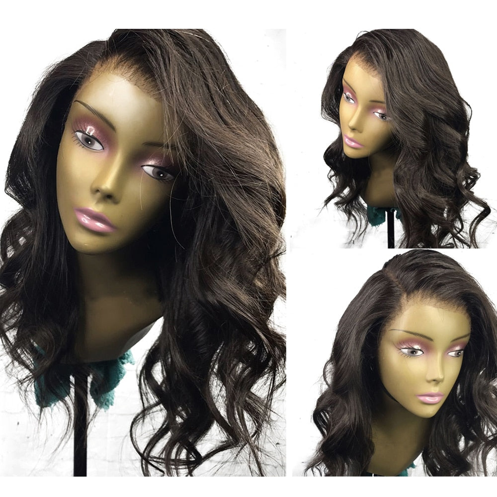 TBOO Full Lace Wavy Human Hair Wigs Brazilian Remy Hair Glueless Short Bob Human Hair Wig With Baby Hair For Black Women