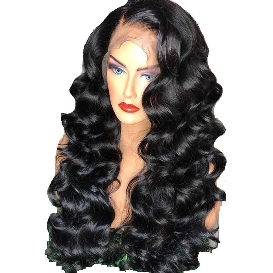 Brazilian Loose Wave Human Hair Wigs Remy Hair 13*4 Lace Front Wig With Baby Hair Around 150% Density Natural Color
