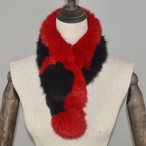 2020 Women Real Rabbit Fur Scarf 100% Genuine Rabbit Fur New Hot Sale Warm Soft Neckerchief Fashion Rabbit Fur Scarves