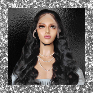 T-BOO New HD LACE Wig, 13*4 Bodywave Indian Hair 100% Human Hair Wig Virgin Hair Natural/#1B Color