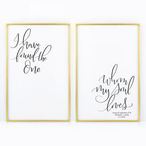 I Have Found the One - Duo Prints