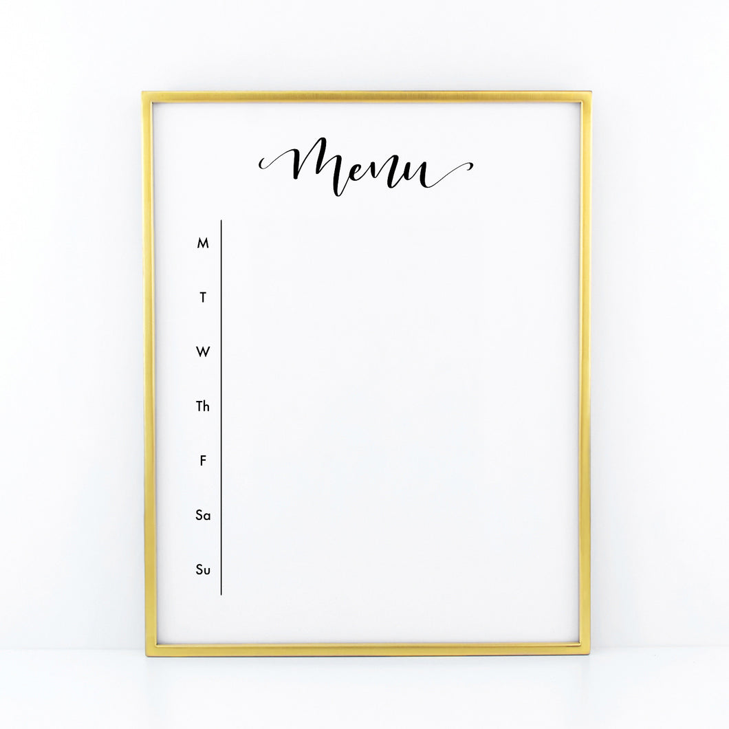 Menu Board & Shopping List