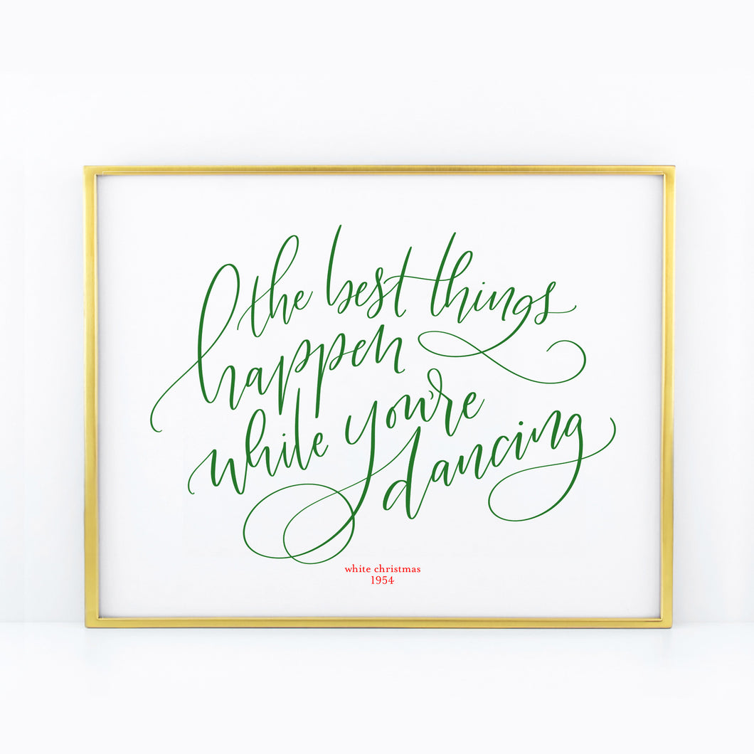 Quotes Calligraphy White Christmas Quotes  Beau And Arrow
