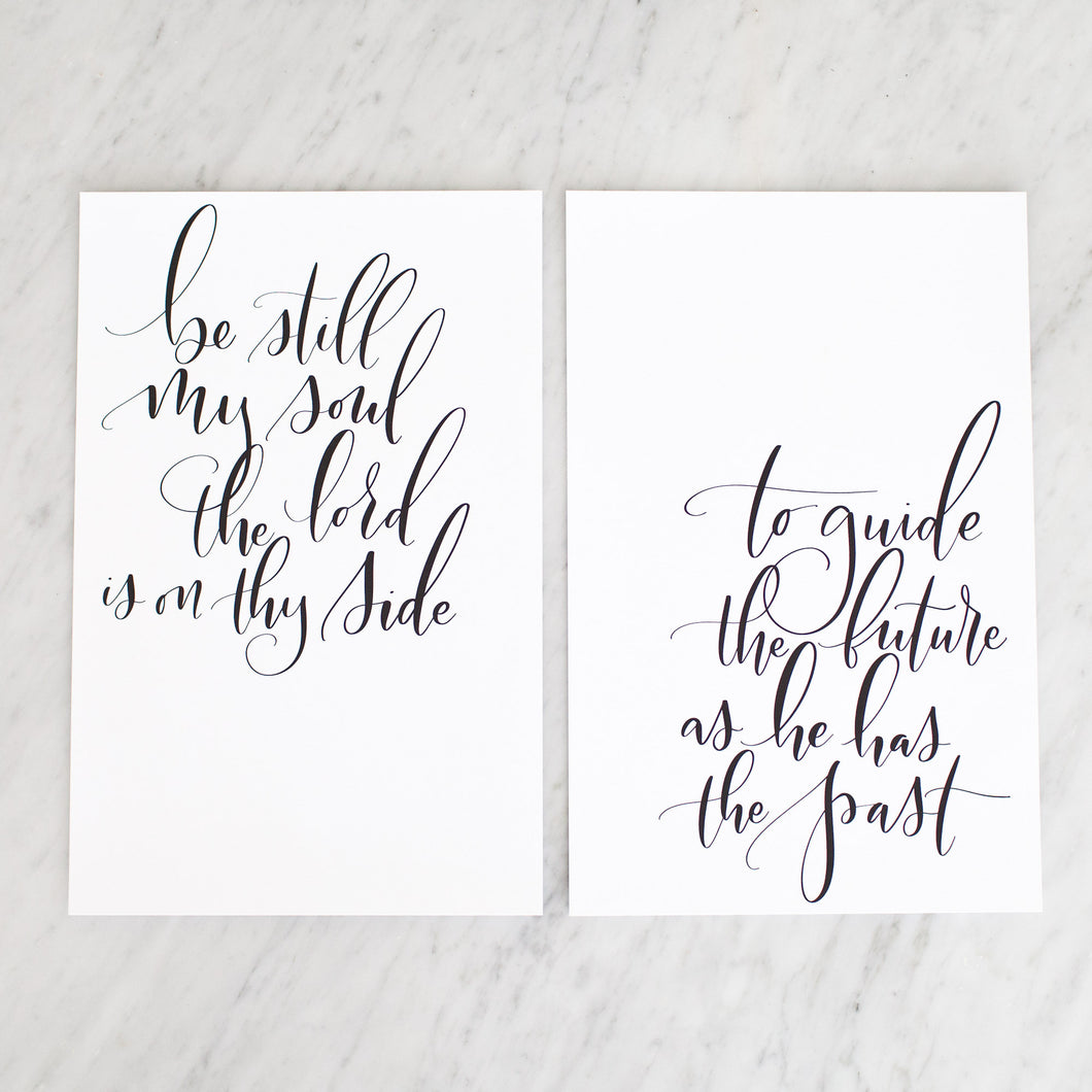 Be Still My Soul Duo Prints Beau And Arrow