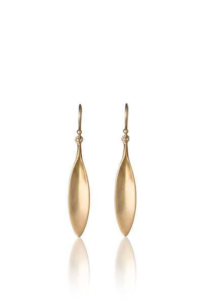 Large Daisy Petal Earrings in 14k Gold