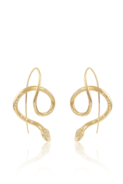 Diamond Pavé Serpent Earrings
