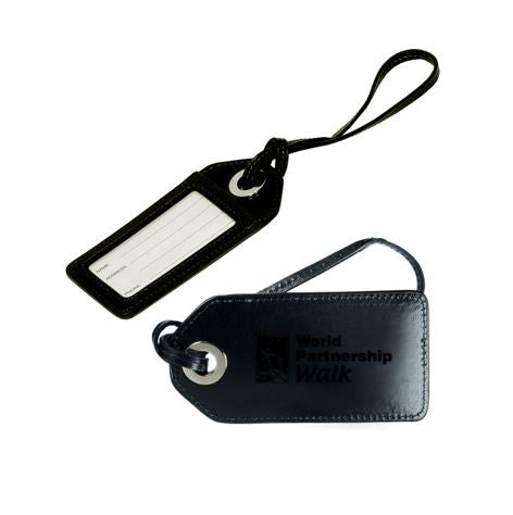 Luggage Tag Black & Burgundy