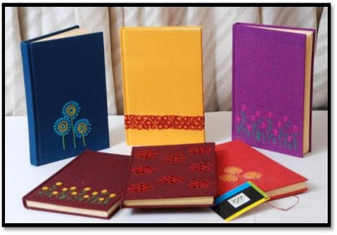 Embroidered Note Books