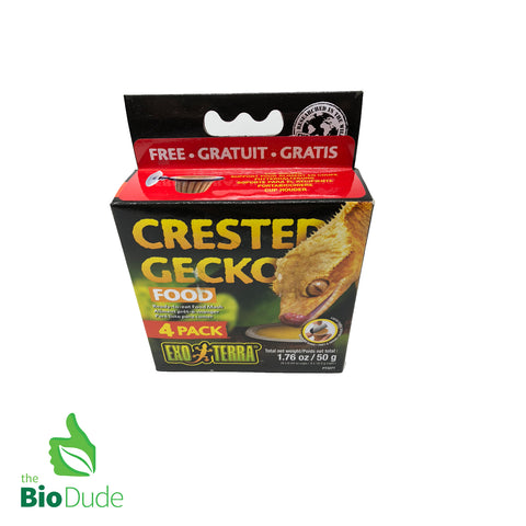 Exo Terra Crested Gecko Food 4 pack FREE SHIPPING