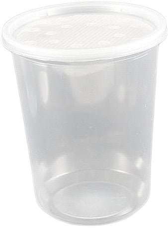 25 pack 32 ounce deli cup + fabric lid FREE SHIPPING