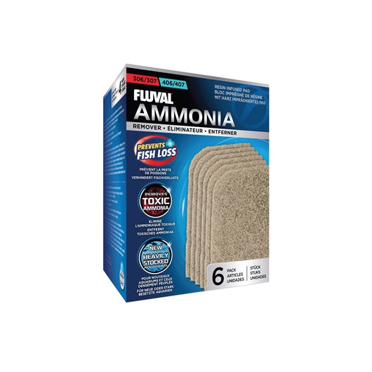 Fluval 306/406 and 307/407 Ammonia Remover - 6 pack