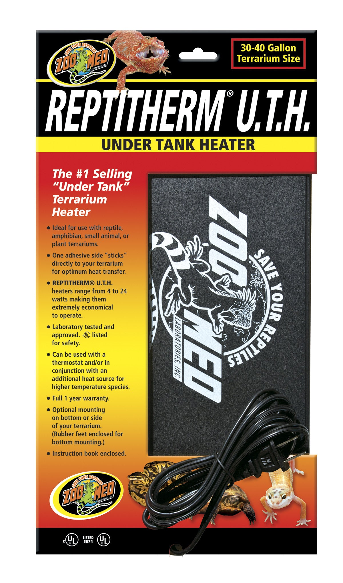 Buy Reptitherm Under Tank Heater 30 40 Gallons At The Bio