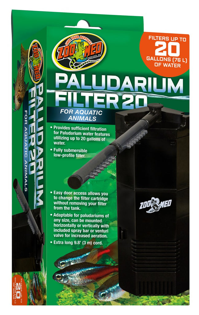 Zoo Med Paludarium 20 gallon Internal Power Filter