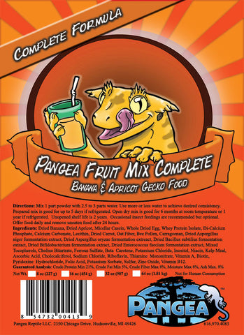 Pangea Fruit Mix™ Banana Apricot Complete Gecko Diet 2oz FREE SHIPPING - orange