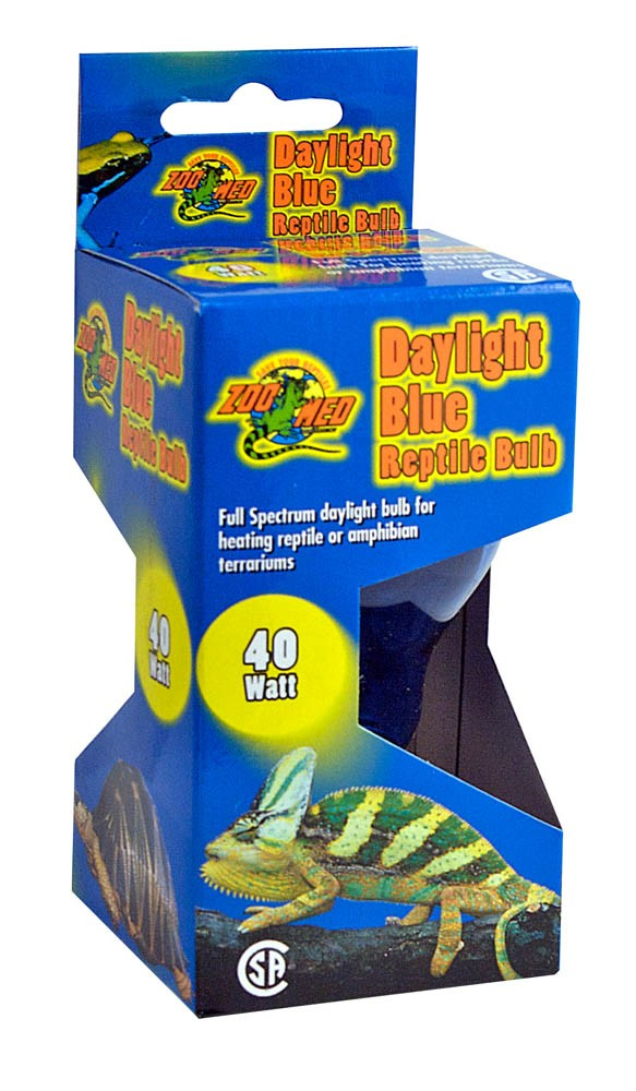 40 Watts Zoo Med 2 Pack Daylight Blue Reptile Bulb