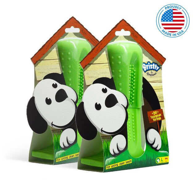 dog toothbrush toy two pack