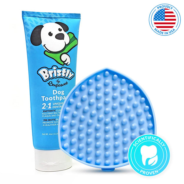Bristly Fresh Breath Pack - Toothpaste and Dog Tongue Cleaner