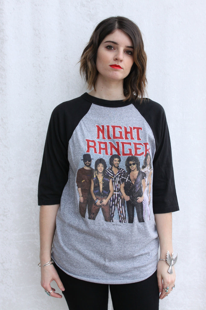 1985 Night Ranger 7 Wishes Tour Raglan