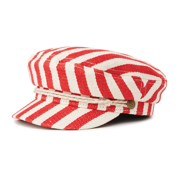 Red Natural Stripe Fiddler Cap