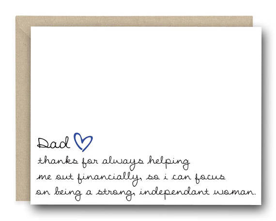 Father's Day Financially Independent Greeting Card