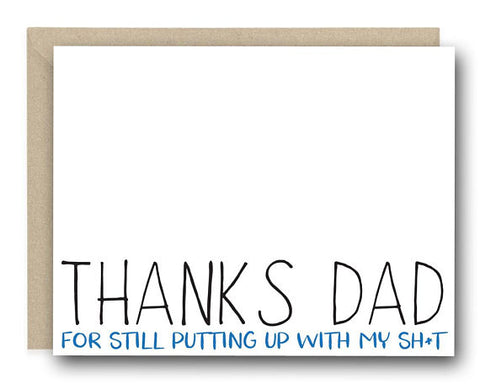 Father's Day Putting Up With Card