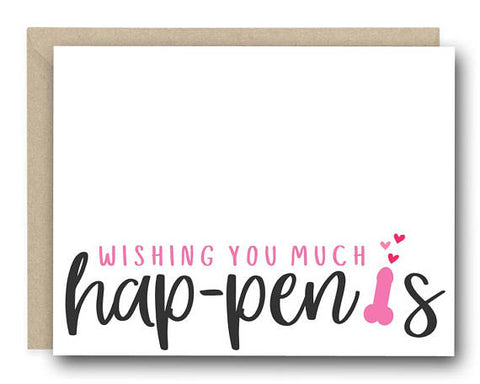 Wishing You Happenis Greeting Card