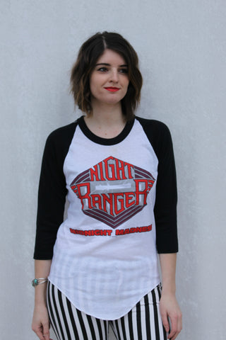 1983 Night Ranger Midnight Madness Raglan