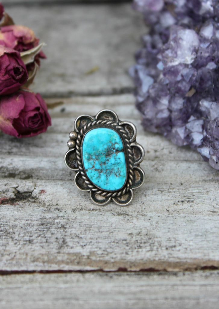 Old Pawn Turquoise Ring - Rove