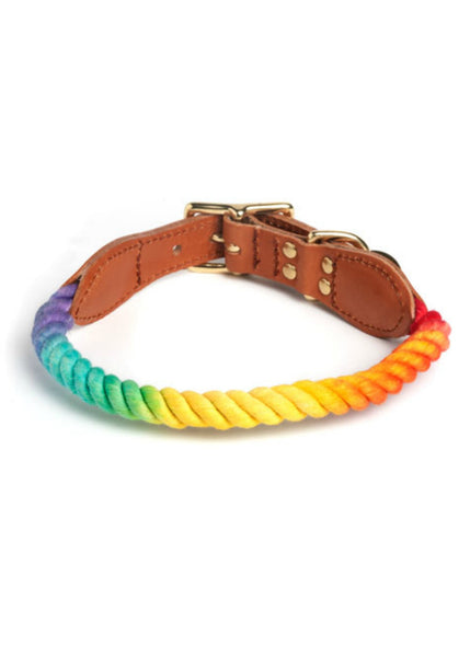 Prismatic Ombre Cotton Rope Cat + Dog Collar