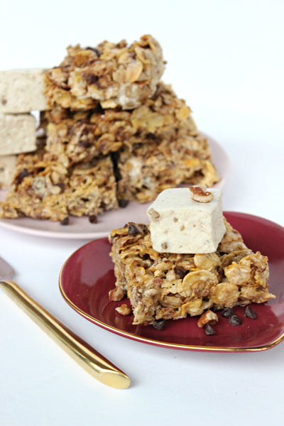 Maple Pecan Cereal Bars (Gluten Free!)
