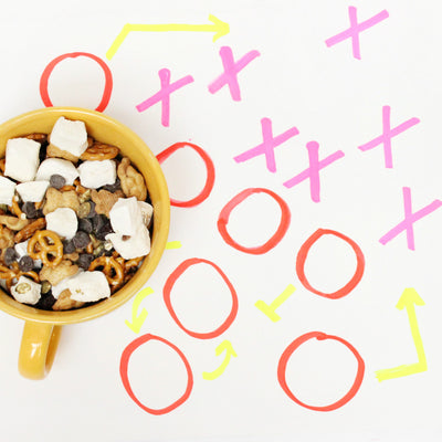 Super Bowl S'mores Mix using Bourbon XO Marshmallows