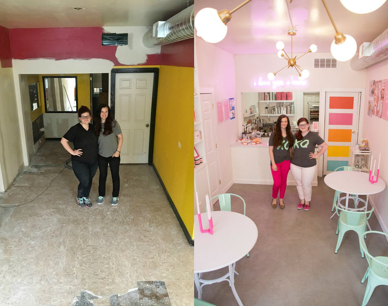 Creating the wonderland...before and after!