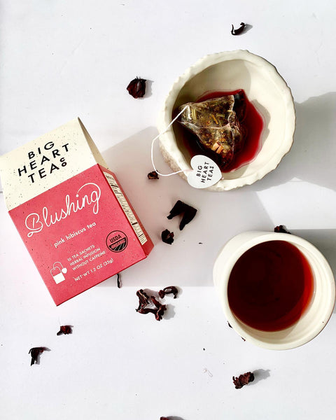 Big Heart Tea's Blushing Tea featured in the XO Marshmallow, marshmallow of the month club