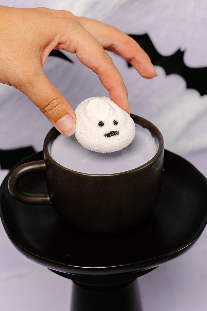 Boo Thang Marshmallow ghost hot chocolate