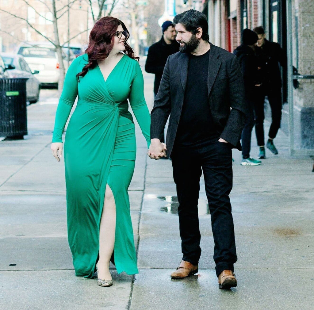 Kat Connor, founder of XO Marshmallow, with her fiancé Nick