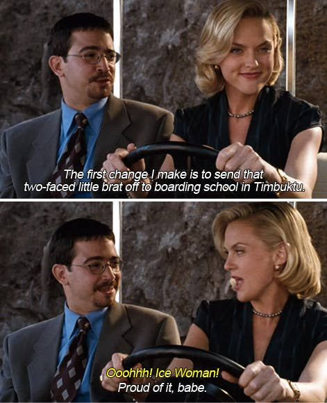 Meredith from Parent Trap saying she is going to send the twins to boarding school