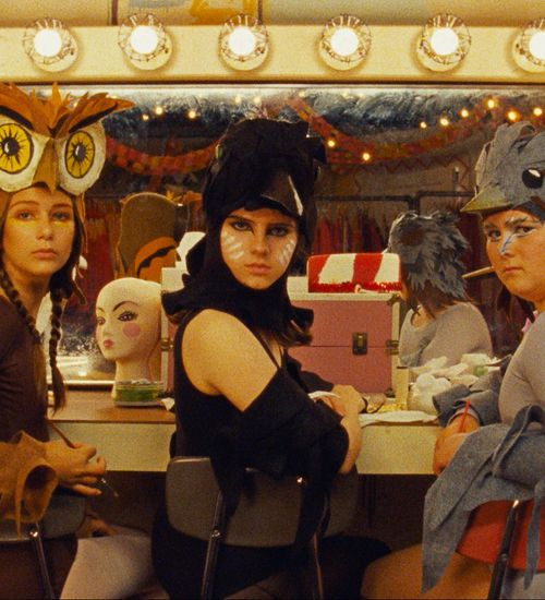 The girls from Moonrise Kingdom in their bird costumes