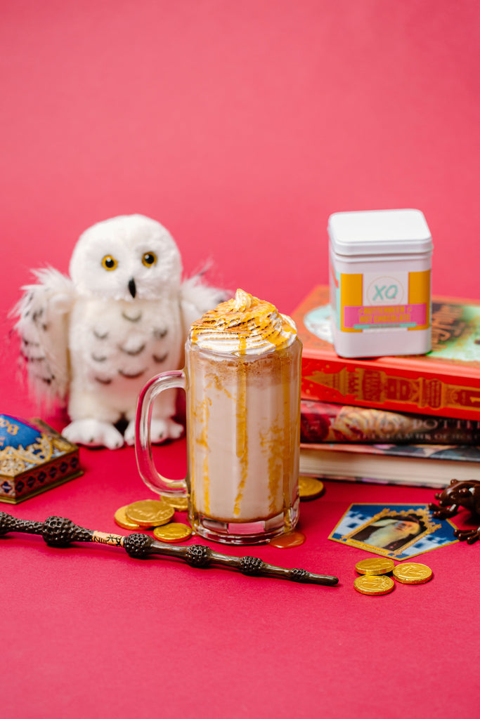 XO Marshmallow frozen butterbeer drink using our butterbeer hot cocoa mix