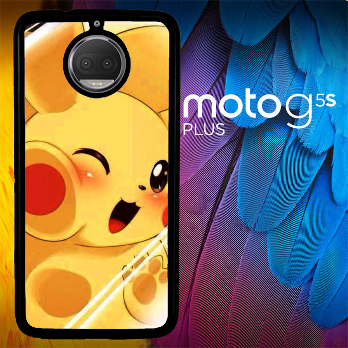 Motorola Moto G5S Wallpapers: Pikachu Chubby WALLPAPER Y1343 Motorola Moto G5S Plus Case