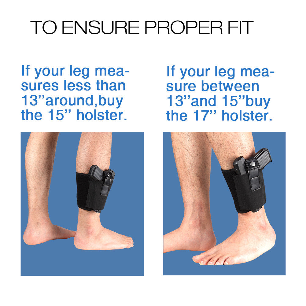 Lirisy Ankle Holster for Concealed Carry | Fits Small to Medium Frame  Pistols