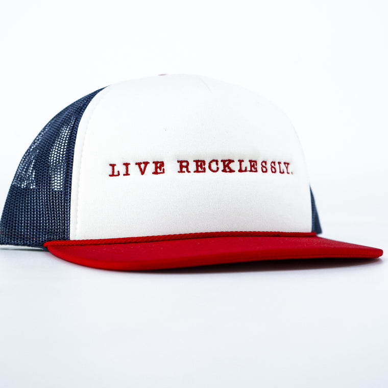 """Combat Iron"" Branded Red Patch Snapback 
