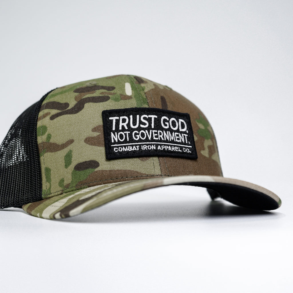 "Combat Iron™ ""CIA HEX"" Black Patch SnapBack 