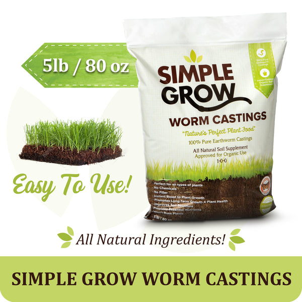 5lb Worm Castings - Simple Grow Worm Castings