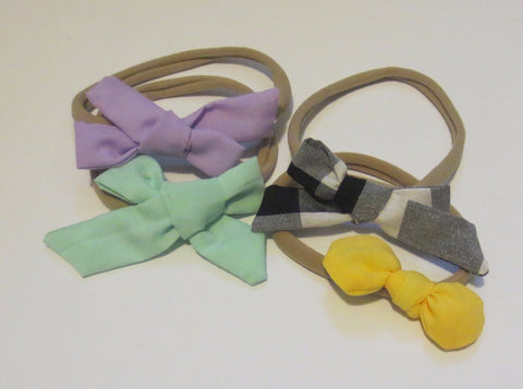 Fabric Bow Baby Band