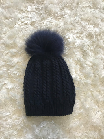 Amy Cable Ribbed Warm Hat