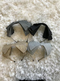 Metallic Thread Large Bow Headband
