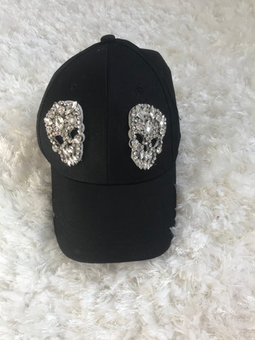 Clear Crystal Skull - Black Cotton Cap